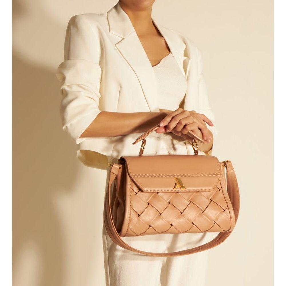 bolsa-satchel-rosa-couro-speciale-grande-arezzo§-1
