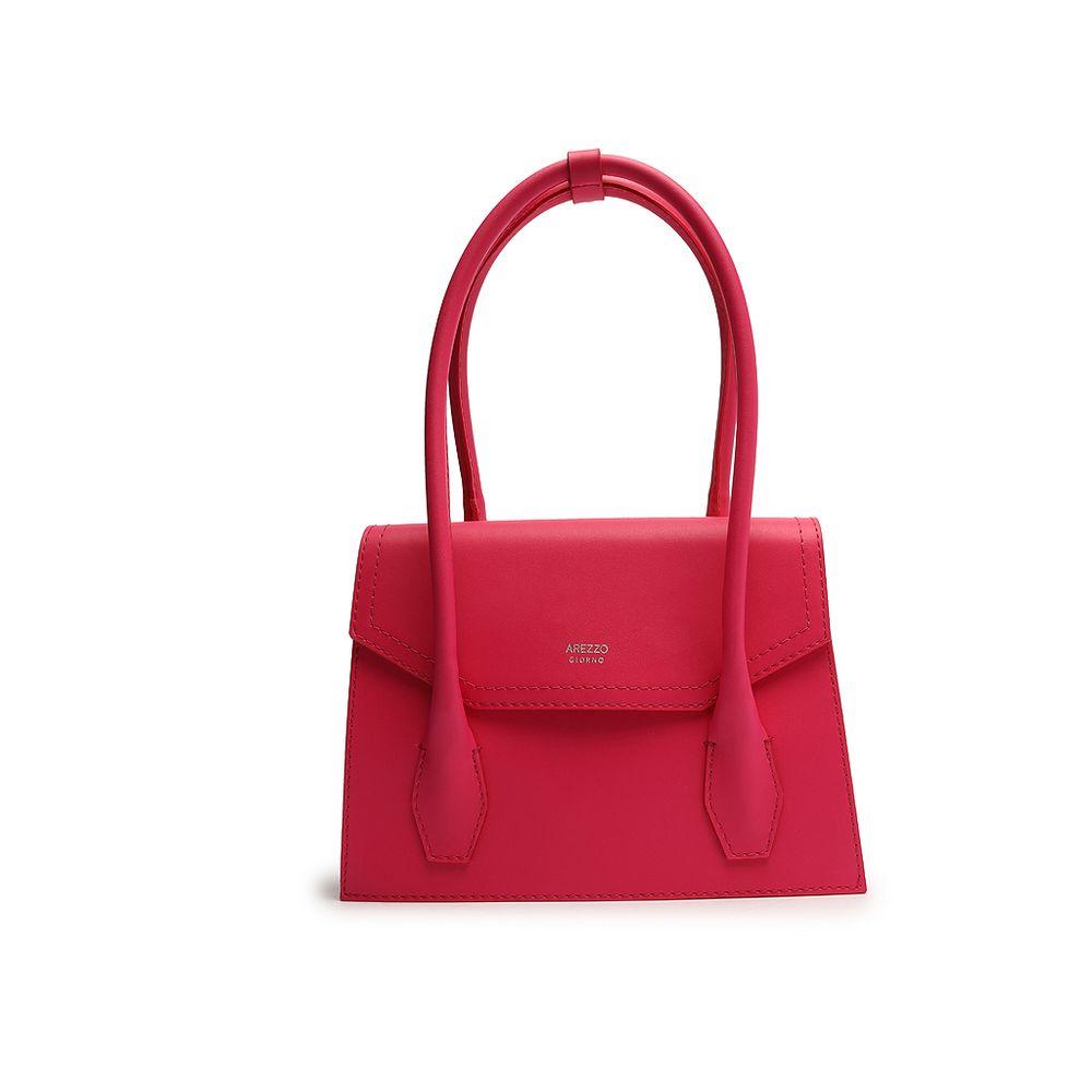 bolsa-satchel-sintetica-rosa-arezzo-1